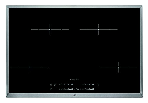 31HlUo8OV2L - AEG HK 854401 X-B Induktionskochfeld Elektro (76,60 cm, mit Maxi Sense Plus, Automatische Topferkennung) edelstahl