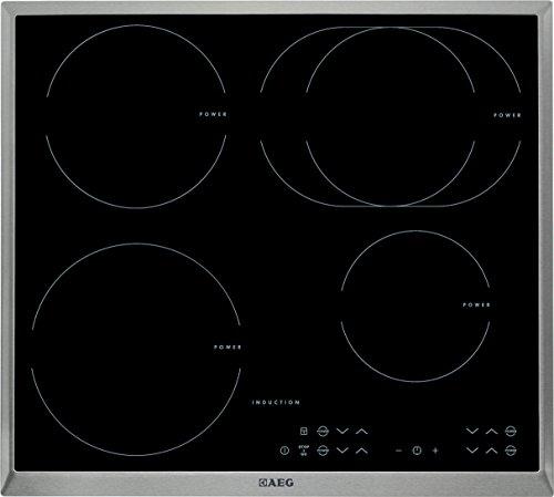 411zTrDaftL - AEG HK634250XB Induktionskochfeld/Glaskeramik/60 cm/4-fach Induktion mit Single-Control/Stop und Go-Funktion/edelstahl